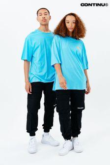 Continu8 Unisex Blue Oversized T-Shirt