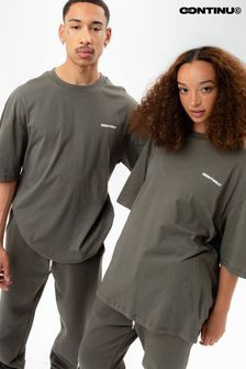 Continu8 Khaki Oversized T-Shirt