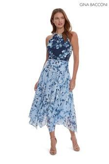 Gina Bacconi Loxie Tiered Spot Dress