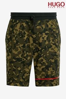 HUGO Green Camo Shorts