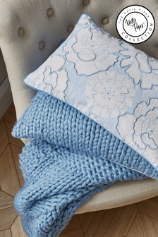 Katie Piper Blue Be Still Cushion