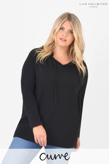 Live Unlimited Curve Black Knitted Hoodie