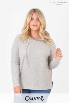 Live Unlimited Curve Grey Knitted Hoodie