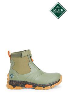 Muck Boots Green Apex Mid Zip Wellies