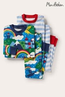 Boden Blue Snug Pyjamas Twin Pack