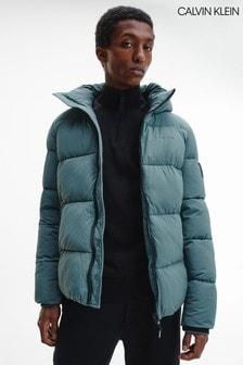 Calvin Klein Green Crinkle Puffa Jacket