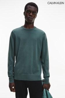 Calvin Klein Green Wool Crew Neck Sweater