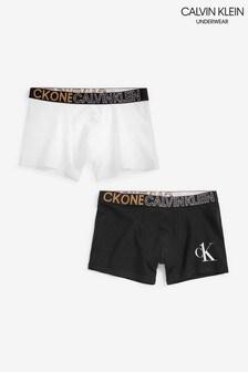 Calvin Klein Older Boys Black CK One Trunks 2 Pack