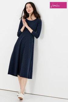 Joules Blue Cassidy Seamed Jersey Dress