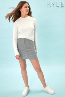 Kylie Grey Check Tube Skirt