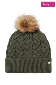 Joules Green Elena Cable Hat