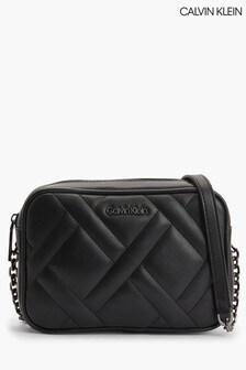 Calvin Klein Black Quilt Camera Bag
