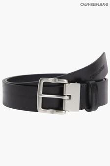 Calvin Klein Black Classic Monogram Belt