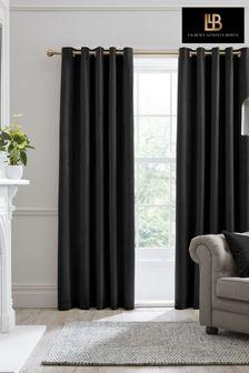 Laurence Llewelyn-Bowen Black Montrose Eyelet Curtains