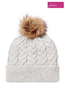 Joules Grey Elena Cable Hat