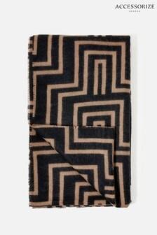 Accessorize Darks-Multi Firenze Geo Print Blanket Scarf