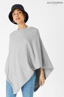 Accessorize Grey Lightweight Knit Poncho