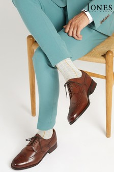 Jones Bootmaker Brown Gents Wide Fit Leather Lace Smart Shoes