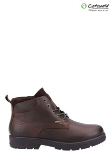 Cotswold Brown Winson Lace-Up Boots