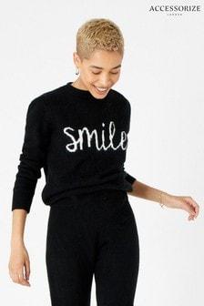 Accessorize Black Lounge Smile Jumper
