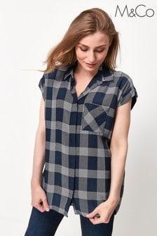 M&Co Blue Check Shirt