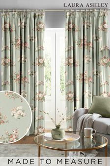 Laura Ashley Sage Rosemore Made To Measure Curtains