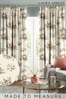 Laura Ashley Natural Rosemore Made To Measure Curtains