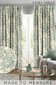 Laura Ashley Sage Picardie Made To Measure Curtains