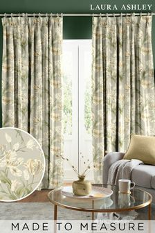 Laura Ashley Sage Gosford Made To Measure Curtains