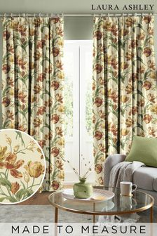 Laura Ashley Gold Gosford Made To Measure Curtains