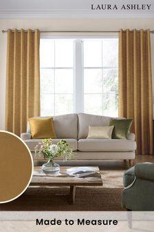 Laura Ashley Orange Swanson Made To Measure Curtains