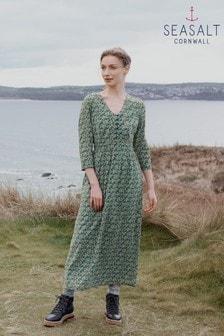 Seasalt Cornwall Blue 3/4 Feather Slate Dress