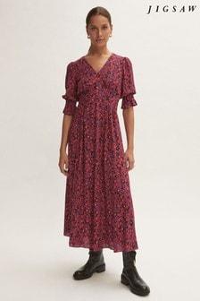 Jigsaw Purple Shadow Ditsy Tea Dress