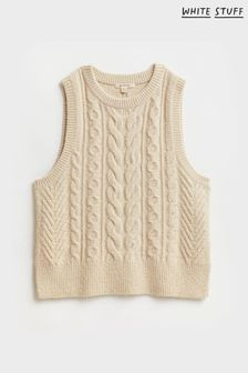 White Stuff Natural Cable Tank Jumper