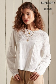 Superdry Bohemian Lace Long Sleeved Jersey Top