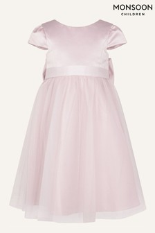 Monsoon Younger Girls Pink Tulle Bridesmaid Dress