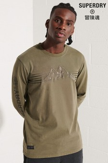 Superdry Brown Expedition Graphic Long-Sleeve Top