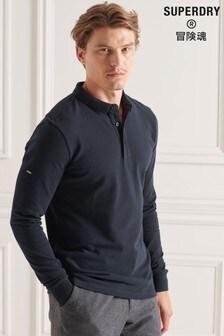 Superdry Blue Studios Organic Cotton Pique Polo Shirt