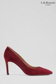 L.K.Bennett Womens Red Floret Single Sole Point Shoes