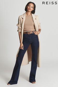 Reiss Blue Beau High Rise Skinny Flared Jeans