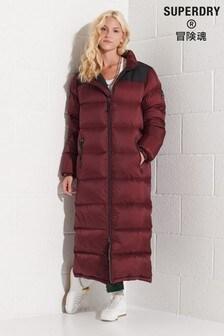 Superdry Code Longline Down Puffer Coat