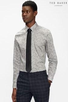 Ted Baker Grey Edenss Grey Ls Slim Fit Shirt