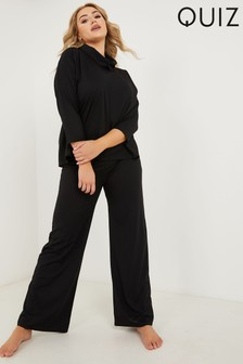 Quiz Curve Ribbed Palazzo Trousers
