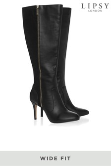 Lipsy Wide Fit Stiletto Long Boots