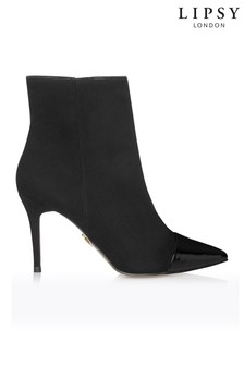Lipsy Patent Toecap Stiletto Ankle Boots