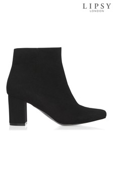 Lipsy Microfibre Block Heel Ankle Boots
