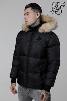 Sik Silk Logo Padded Jacket