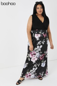 Boohoo Curve 2 In 1 Maxi Dress