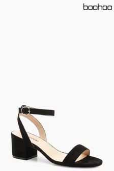 Boohoo Low Heel Block Sandals