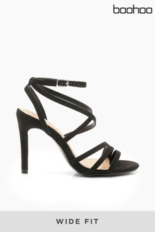 Boohoo Wide Fit Strappy Heel Sandals